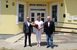A Magyar Egészségügyi Szakdolgozói Kamara Vas megyei területi szervezete Semmelweis-napi kitüntetésben részesítette Kovácsné Söptei Valériát