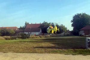 Mentőhelikoptert is riasztottak Celldömölkre méhcsípéshez